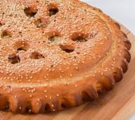 Пирог с мясом и сыром, 1кг.