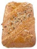 Пирог сдобный с семгой и картофелем