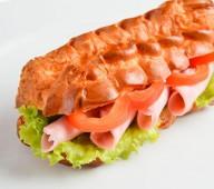 Эклер-сэндвич с ветчиной