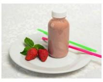 Смузи с клубникой и злаками на миндальном молоке