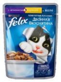 Корм для взр-х кошек FELIX Двойная вкуснятина д/к ягненок-курица