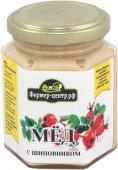 Мёд натуральный с шиповником, 180 гр.