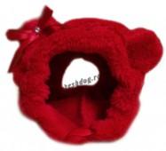 Красная шапочка для мелких собак
