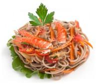 Вок в устричном соусе с креветками
