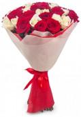 Букет из 21 розы, 60 см.
