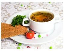 Суп с буро-диким рисом и куриным филе