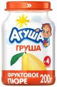 Пюре Агуша груша с 4 месяцев, 200 г, 1 шт.