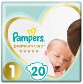 Подгузники Pampers Premium Care 1 размер, 20 шт, 2-5 кг.