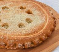 Пирог с заварным кремом и кокосом, 1кг.