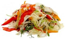 Салат из свежей капусты с овощами